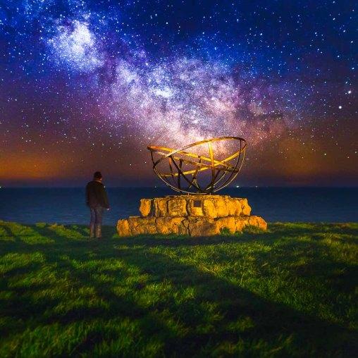 Radar Monument St Aldhelm's Head Milky Way - Dorset Milky Way Photography UK