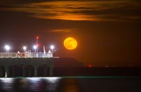 Moonrise Boscome Beach Dorset UK