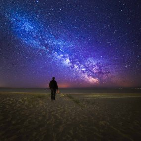 Lyrid Meteor and Milky Way - Dorset Milky Way Photography UK