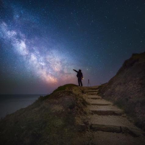 Durlston Country Park Milky Way - Dorset Milky Way Photography UK
