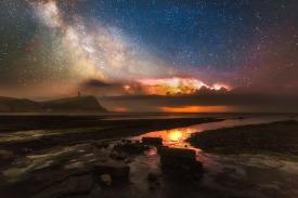 Kimmeridge and Thunderstorm Milky Way - Dorset Milky Way Photography UK