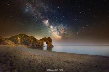 Durdle Door Milky Way during Summer Time #durdle-door-milkyway