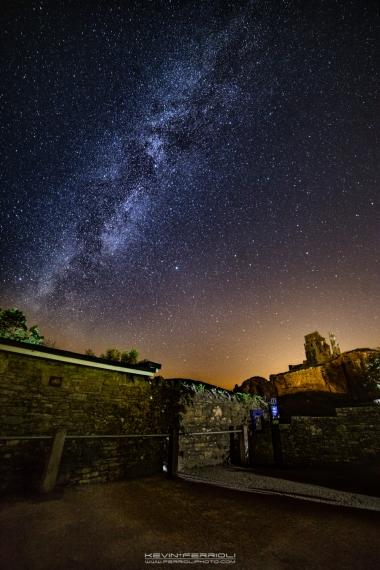 Corfe Castle Milky Way