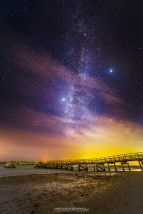 Lake Pier Milky Way Poole Harbour
