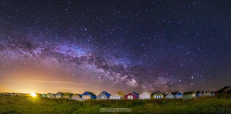 Mudeford Beach Huts Milky Way