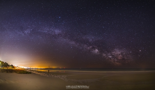 view of the Milky Way towards Bournemouth