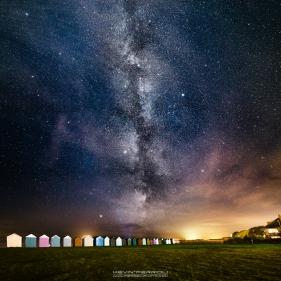 Hamworthy Park Beach Huts Milky Way