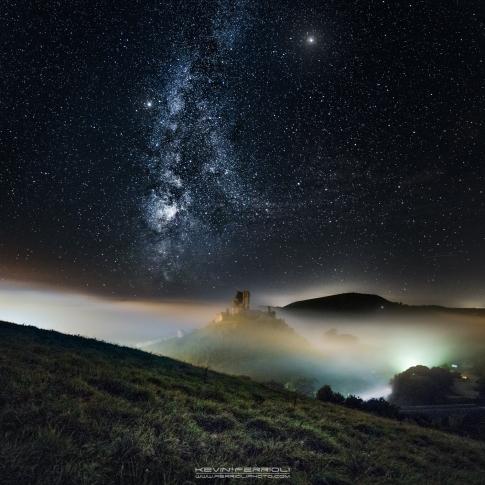 Corfe in the mist