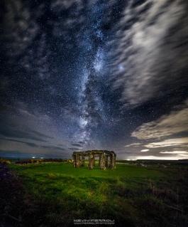 Worth Matravers Woodhenge Milky Way